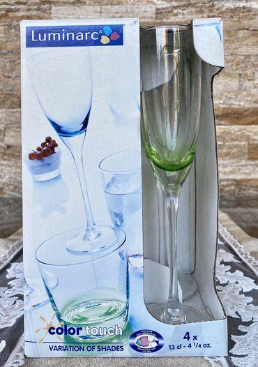 luminarc наборы посуды в Азербайджан: Luminarc fujer dəstı «Color touch Green»4 ədədНабор фужеров Luminarc