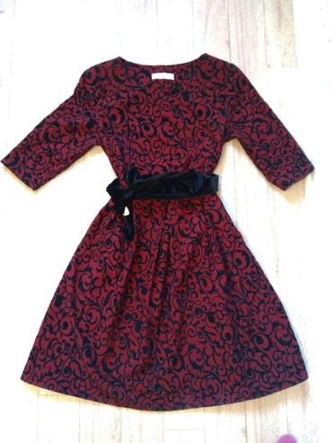 бордовый замшевый в Кыргызстан: Нарядное платье. Цвет бордовый. Размер 42-44. Новое