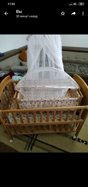 детский деревянный стул купить в Кыргызстан: Продаю манеж детский без люльки и балдахина. Состояние хорошее