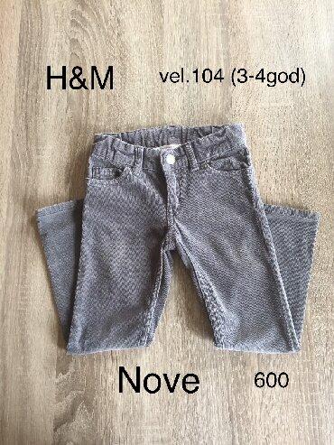 Helanke farmerke - Srbija: Nove H&M somotke za devojcice sa gumom za podesavanje u