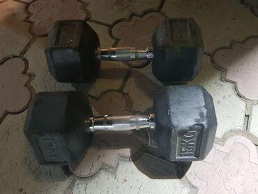Спорт и хобби - Джал мкр (в т.ч. Верхний, Нижний, Средний): Гантели по 15кг каждая 15+15=30кг общий вес