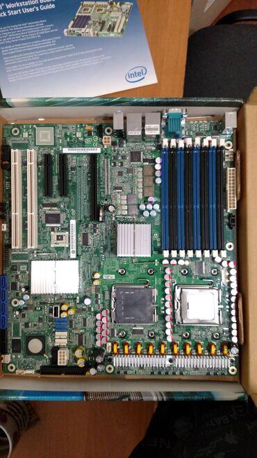 Серверная материнская плата Intel Worcstation Board S5000XVN на два