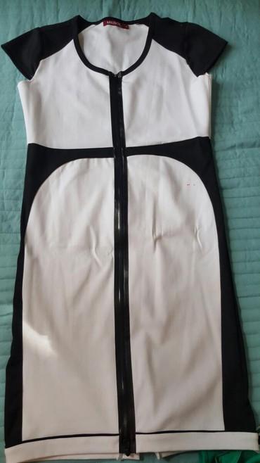 Bela haljina sa koznim detaljima br.40 - Pozarevac