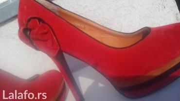 Savrsene crvene salonke, jednom nosene... Visina stikle 12cm, izuzetno - Belgrade