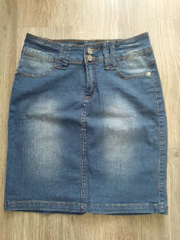 Женская одежда - Чон-Таш: Юбка джинсовая. Размер 26. Состояние идеальное. Ткань приятная