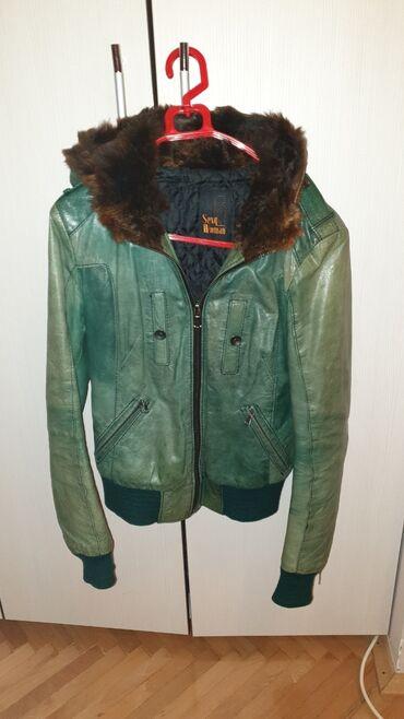 Only pantalone tj - Srbija: Kozna jakna sa pravim krznom, univerzalne je velicine, prelepo stoji
