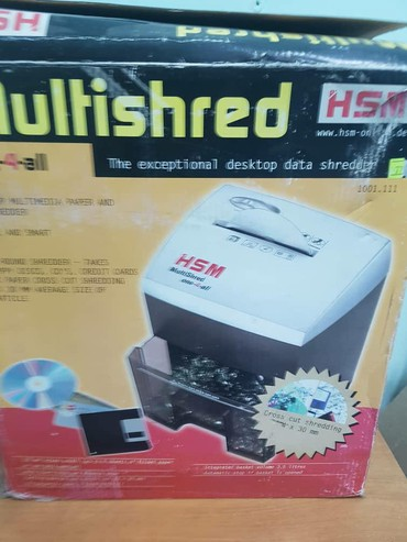 шредеры agent в Кыргызстан: Шредер для офиса HSM shredstar MultiShred one-4-all абсолютно новый !!