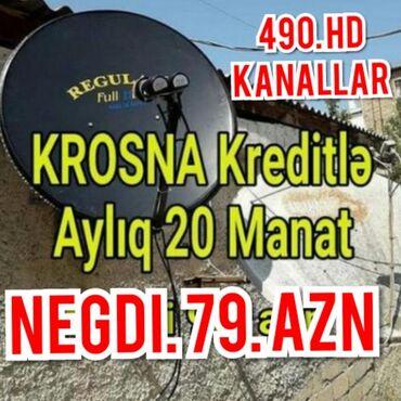 TV/video üçün aksesuarlar - Azərbaycan: Krosnu kredit Negdi 79 azn360 HD kanallarCatdirib gurasdirilmasi