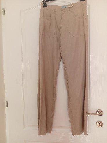 Pantalone pamuk polyester - Srbija: Lan pamuk nove pantalone vel.M
