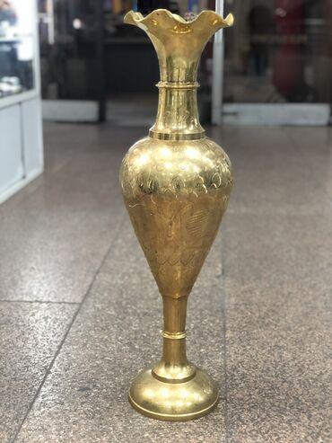 Антикварные вазы - Бишкек: Ваза из латуни(не темнеет) производство Индия  Длина 82см