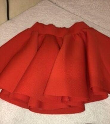Svileni suknja - Srbija: Crvena puf suknjica  Novo S-M