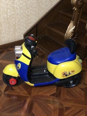 Миньон Детский классный мотоцикл для детей с аккумуляторомимеет пер