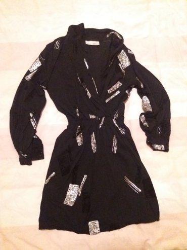 Haljina-sa-sljokicama - Srbija: Nova moderna haljina, crna sa srebrnim sljokicama. Odgovara velicini s