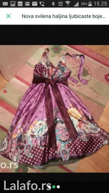 Haljina-boje - Srbija: Nova svilena haljina ljubicaste boje s-