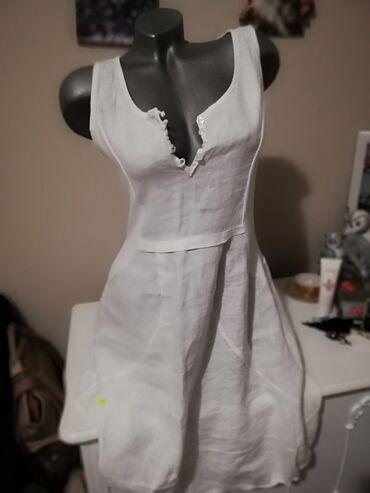 92 oglasa: Brutalno dobar model Lanena haljina Na struku ima Rebrasti pamuk sa