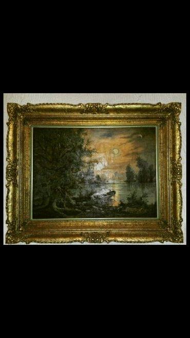 Prodajem sliku- masivan zlatni ram kao i masivan luster.. Antikvitet - Belgrade