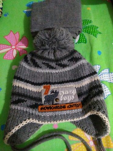 Комплект. Шапка и шарфик. На мальчика. в Бишкек