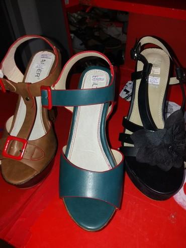 Zenske sandale sa ortopedskom petom..jos par brojeva. Visina pete 13 - Belgrade