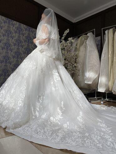 Свадебные платья и аксессуары - Бишкек: Прокат и Продажа:Свадебных платьев Платье на Кыз Узатуу Мусульманские