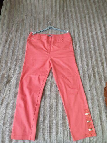 Брюки женские, джинса, цвет коралловый, размер 52-54. Производство