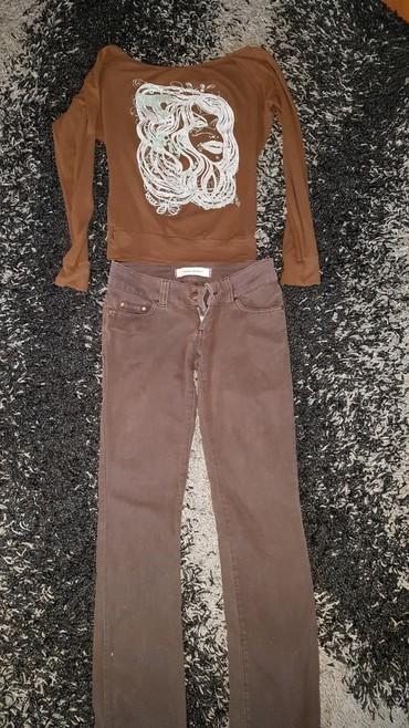Dinara majcice - Srbija: Farmerice pantalone 27, 28 broj Vero Moda. I majcica S.M sve za 350