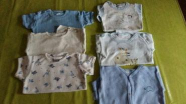 Bodici za bebe vel 74,polovni,ocuvani,3 na kratak rukav i tri na - Petrovac na Mlavi