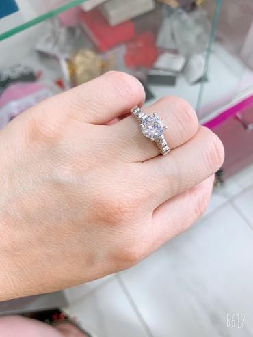 Бриллиант печатка - Кыргызстан: Серебряное кольцо под бриллиант  Самый лучший подарок для ваших любимы