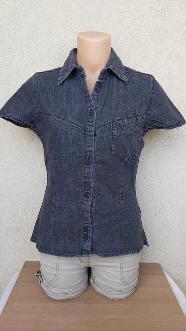 Košulje i bluze | Pozarevac: TIFANY teksas kosuljaPamuk/lanDuzina 57cmGrudi 46cmRamena 36cmRukavi