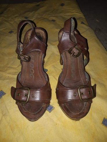 Ženske sandale na štiklu, broj 38-39 Jednom nošene - Kragujevac