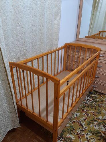 кровать трансформер детская купить в Кыргызстан: Кроватка, манеж 5500 сом. Состояние отличное. Матрасик в подарок