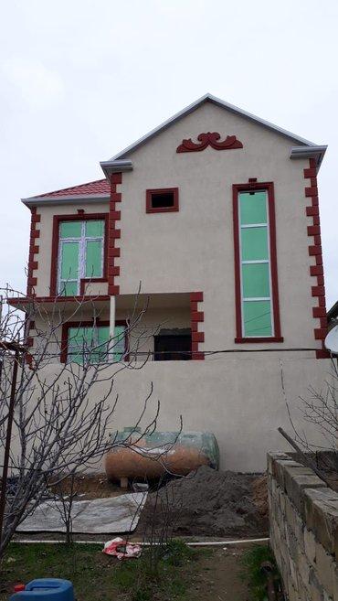 Xırdalan şəhərində Masazir 1.5sotda 4 otaq kupçali , ara_mərtəbəsi beton_manalit olan 2