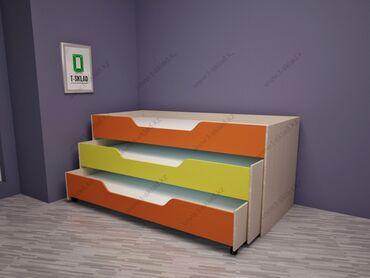 Мебель - Кыргызстан: В продаже трёхъярустные кровати детские  Количество 9 шт