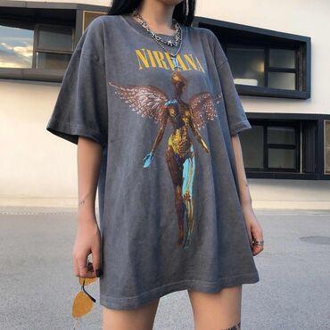 �������������� �������� ������������ в Кыргызстан: Стандартная футболка NirvanaКачество Стоимость 1200 сомЖдём Вас в