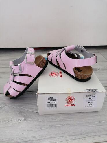 Grubin - Srbija: Grubin sandale za devojcice broj 25, manji kalup i unutrašnje gaziste
