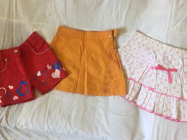 Шорты, юбки б/у детские летние. На возраст 3 - 4 года. Одна вещь 100