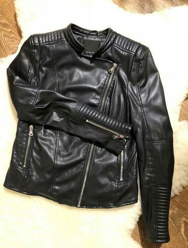 СРОЧНО ПРОДАЮ . Очень стильная женская кожаная куртка черного цвета в