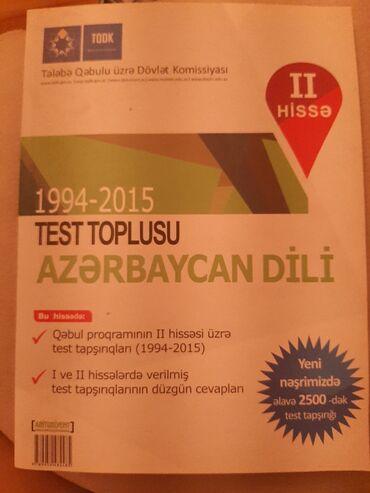 İdman və hobbi - Şirvan: Azervaycan dili,test toplusu,1 ci ve 2 ci hisee