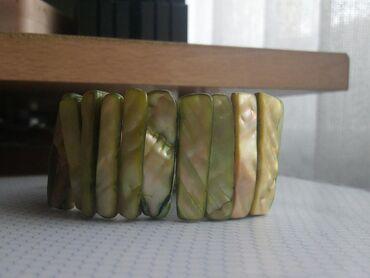 Oprema   Kragujevac: Sedef narukvica od sedefa, tonirana zeleno