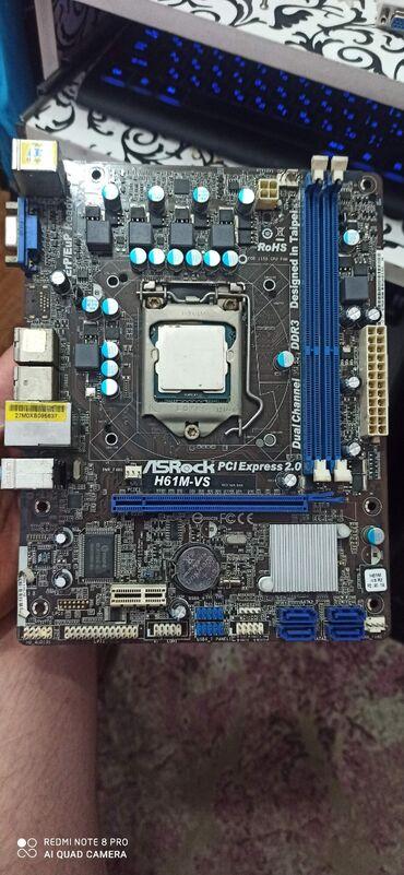 Материнская плата Asrock H61M -VS.socket 1155 с процессором celeron