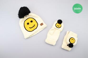 Другие детские вещи - Киев: Дитячий комплект зі смайликами (шапка та рукавички) Orto Line    Шапка