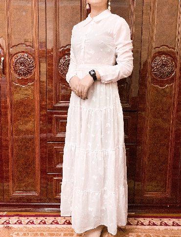 длинное белое платье в Кыргызстан: Платье из Америки (США) люкс качества!!! Идеально белое, нежное платье