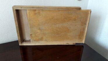 Советская коробка принадлежностей для черчения. Сделана из дерева