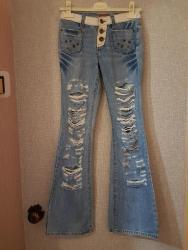 женские джинсы 26 размер в Кыргызстан: Женские джинсы на очень худенькую девушку (размер указан 26)