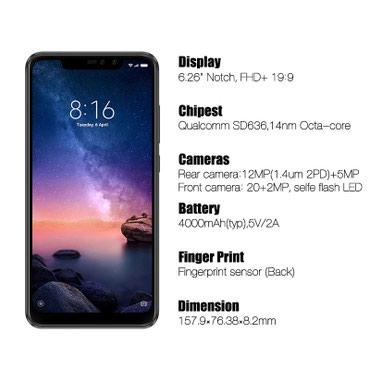 Bakı şəhərində Global Version Xiaomi Redmi Note 6