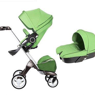 Детская коляска Dsland (салатовый цвет) один-в-один StokkeПользовались
