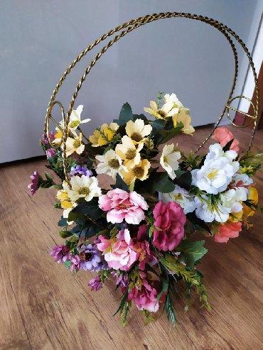 Корзина для декоративных цветов. Медь. Привизен из Ирана