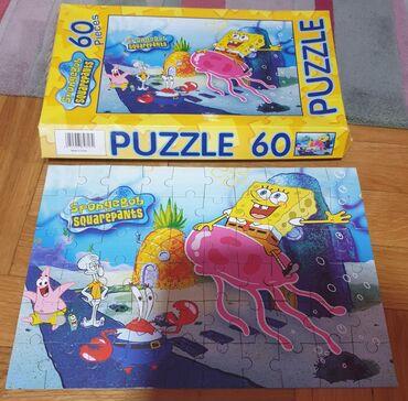 Puzzle - Srbija: Sundjer Bob Puzzle - pazle 60 komada