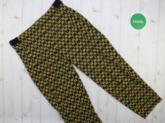 Личные вещи - Украина: Женские брюки в геометрический принт Zara, р. М    Длина штанины: 88 с