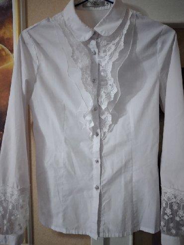 Школьные блузки - Кыргызстан: Распродажа!!!Блузка школьная Турция пуговицы со стразами