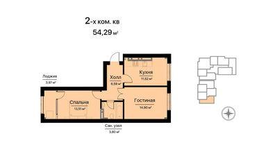 продаю квартира бишкек в Кыргызстан: Элитка, 2 комнаты, 58 кв. м Бронированные двери, Видеонаблюдение, Лифт